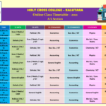 2021 AL Online Timetable